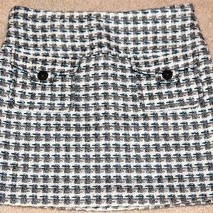 GYMBOREE MY BEST FRIEND Tweed Gray Teal Skirt 9